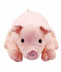 Porco de Pelúcia Deitado 29cm