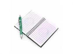 Caneta Roller Pen De Metal Com Caderno
