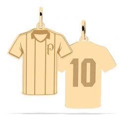 Pingente Camisa Listrada 10 - Ouro 18k + Certificado de Garantia