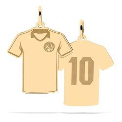 Pingente Camisa Lisa 10 Com Logo - Ouro 18k + Certificado de Garantia