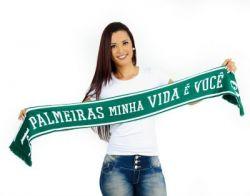 CACHECOL PALMEIRAS MINHA VIDA É VOCÊ DUPLA FACE