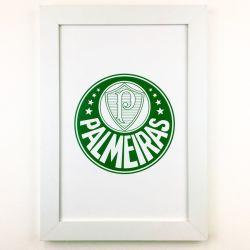 Quadro Palmeiras/5 Coroas com Vidro 40cm  (Dupla Face)