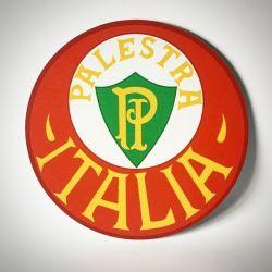 PLACA ESCUDO PALESTRA ITÁLIA 30 CM