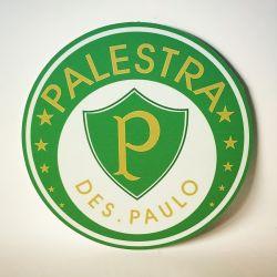 PLACA ESCUDO PALESTRA DE SÃO PAULO 30 CM