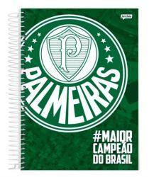 CADERNO ESPIRAL 1/4 CAPA DURA 96 FOLHAS PALMEIRAS - #MAIORCAMPEAODOBRASIL