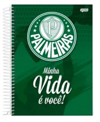 CADERNO ESPIRAL 1/4 CAPA DURA 96 FOLHAS PALMEIRAS - MINHA VIDA É VOCE