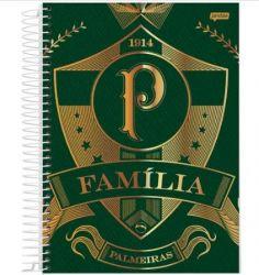 CADERNO CAPA DURA FAMÍLIA PALMEIRAS - 12 MATÉRIAS