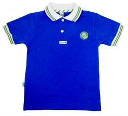 Camisa Polo Infantil Azul Listra