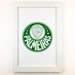 Quadro Palmeiras Branco/Joelmir Beting com Vidro 40cm