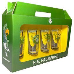 Conjunto 4 Copos Vidro Long Drink Palmeiras