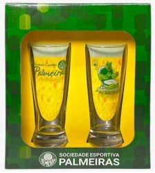 Jogo de copos de Chopp Palmeiras - Lager 300ml