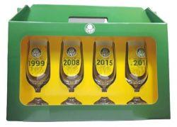 Kit Home Bar Cerveja 4 Taças Comemorativas Do Palmeiras