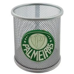 Porta caneta prata Palmeiras