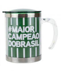 Caneca Térmica Com Tampa 450ml - #maiorcampeãobrasil Palmeiras