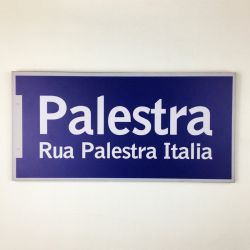 Placa Rua Palestra Itália 40cm