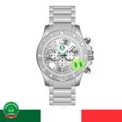Relógio Palmeiras Luxo (Fundo Branco)