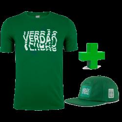 Kit Camiseta Masculina Graphic Verdão 20/21 + Boné aba reta graphic 20/21