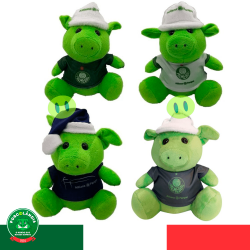 Kit com 4 Porquinhos verdes com uniforme