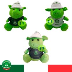 Kit com 3 Porquinhos verdes com uniforme