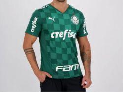 Camisa Masculina I 2021 Puma Com Patrocínios