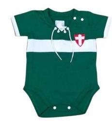 Body Bebê Palmeiras Retrô Manga curta