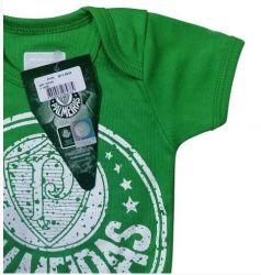 Body Bebê Palmeiras verde Escudo