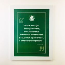 Quadro Joelmir Beting/Palmeiras Branco com Vidro 40cm
